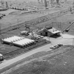 Aerial view of A Site