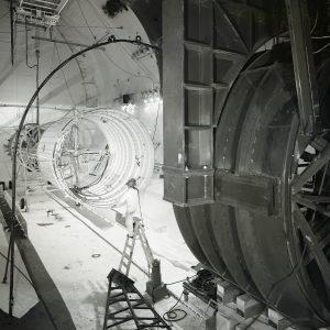 Centaur rig inside large chamber.