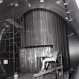 View of large cooling shroud inside SPC No. 1.