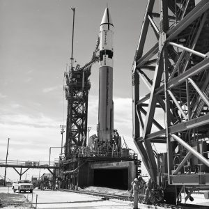 Atlas-Centaur on launch pad