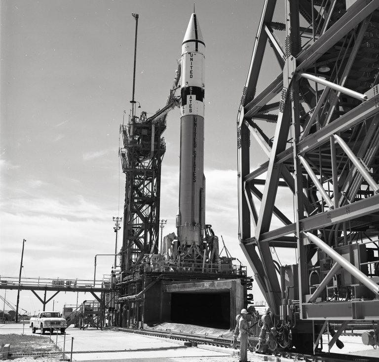 Atlas-Centaur on launch pad