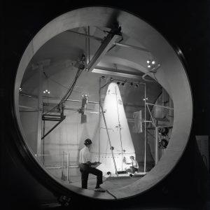 View into SPC No. 1 of Surveyor shroud setup.