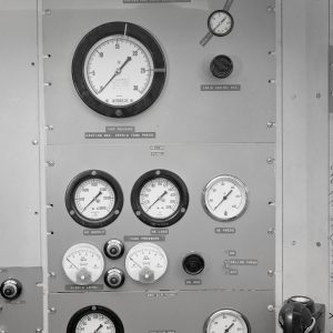 Close up of control panel.