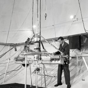 Researchers with test rig in SPC No. 2.