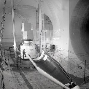 OAO-2 shroud in net after separation test.