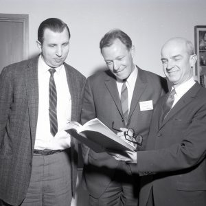 Kaufman with guests.