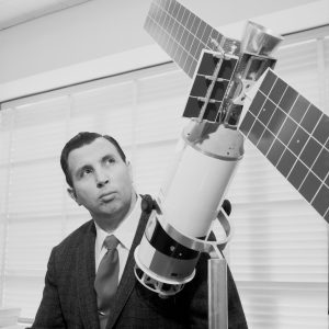 Kaufman with Satellite model.