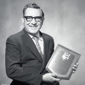 Modarelli with plaque.