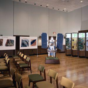 Displays in auditorium.