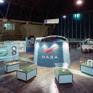 Kennedy Space Center displays in the Lewis hangar for the 1973 Inspection (9/13/1973).