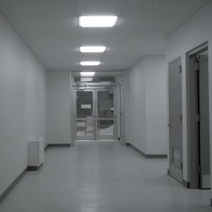 Hallway in Shop and Office Building.
