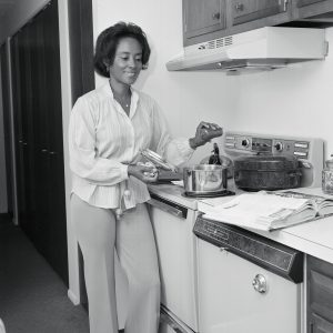 Easley in kitchen.