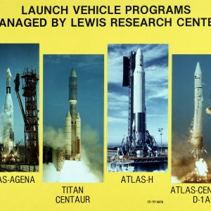 Slide showing four Lewis-managed launch vehicle programs.