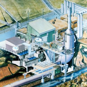 Cutaway view of the RETF facility and its related components (1985)