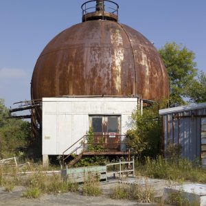 Rusting exterior of J-5 chamber