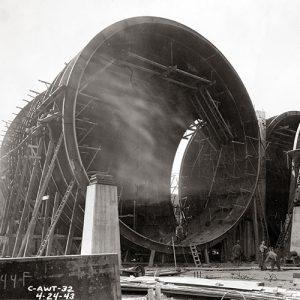 Half-built tunnel shell.