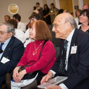 Si Ostrach, Elaine Siegel, and Robert Siegel.