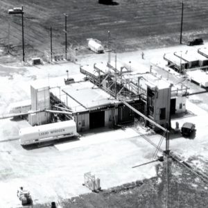 Aerial view of J Site with the J-4 stand in front.