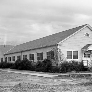 Plum Brook Ordnance Works' Administration at Plum Brook Station. The NACA staff used this structure for offices through the mid-1960s