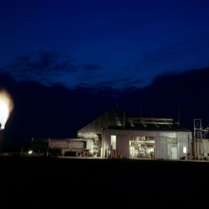 Exterior of C Site at night
