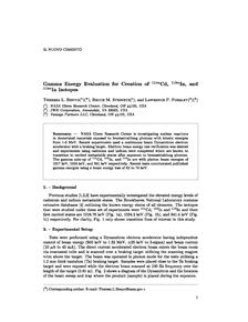 Valutazione dell'energia gamma per la creazione di isotopi Cd-111 (sub m), In-113 (sub m) e In-115 (sub m)