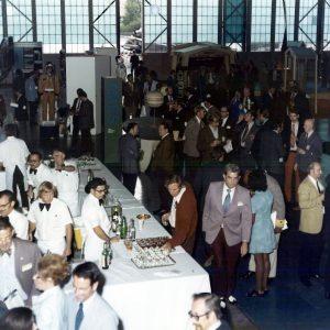 Reception in hangar.