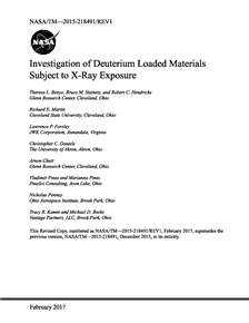 Investigation of Deuterium Loaded Materials Subject to X-Ray Exposure