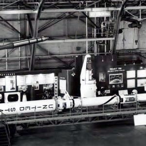 Rockets on display.