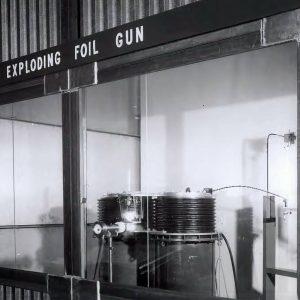 Foil gun demonstration.