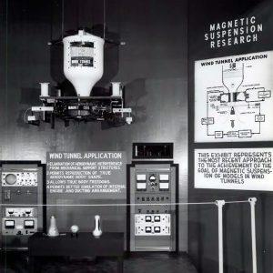 Magnetic suspension exhibit.