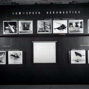 Photos on wall.