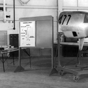 Engine nacelle on display.