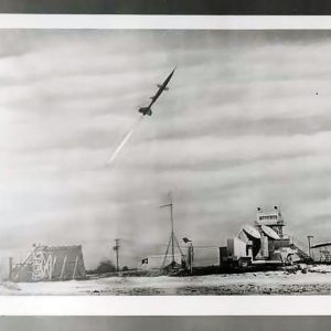 Small missile in flight.