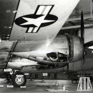 B-29 in hangar.