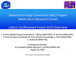Panoramica su Lattice Confinement Fusion (LCF)