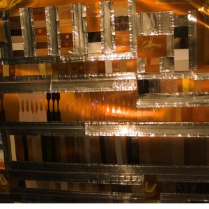 This image taken by Astronaut Heidemarie Stefanyshyn-Piper during the STS-115/12A mission during the retrieval of MISSE-5 shows the Thin Film Materials Experiment.