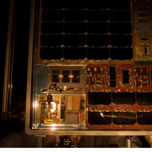 This image of the Forward Technology Solar Cell Experiment (FTSCE) taken prior to the retrieval of the MISSE-5 PEC during the STS-115/12A mission in September 2006.