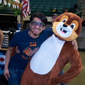 Another picture of the mascot (A squirrel) from team 648.