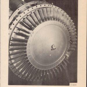 GE I-40 turbine wheel with damaged blade following testing in the JPSL