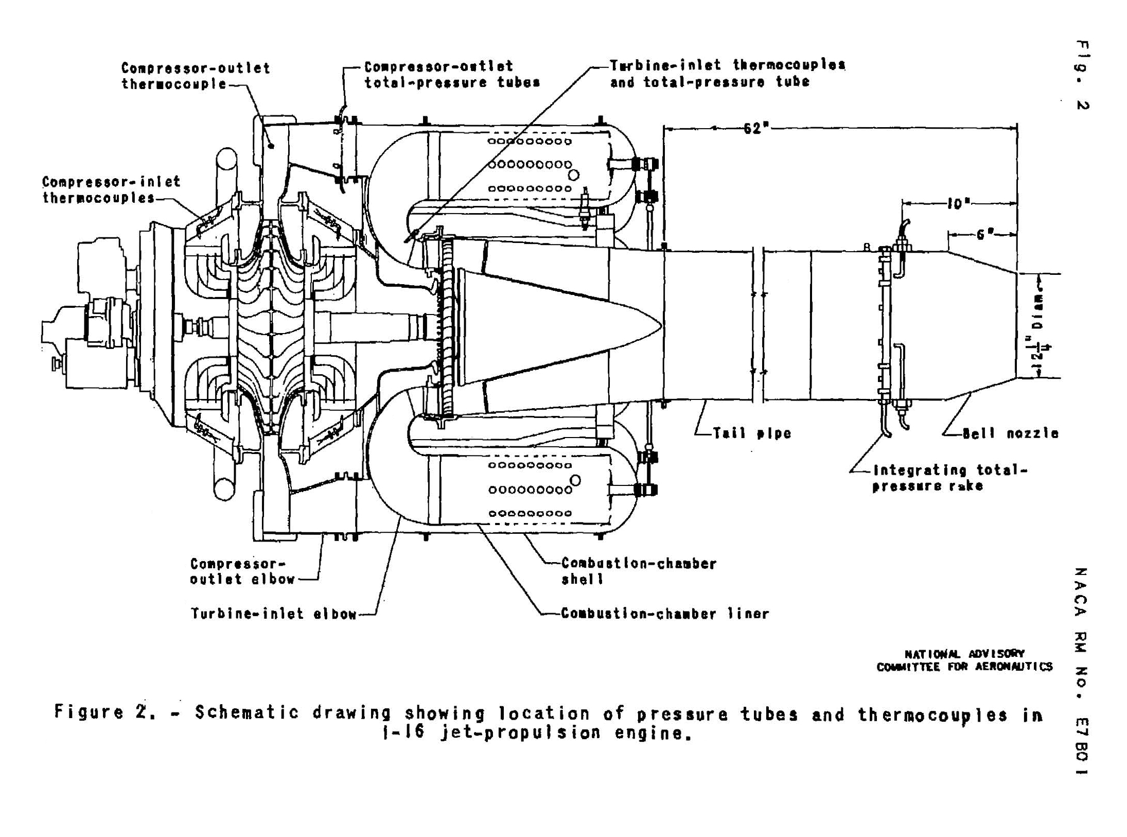 Early Jet Engines Nasa Glenn Research Center First Combustion Engine Diagram Naca Of The General Electric I 16 J 31