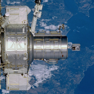 MISSE PEC 2 on the Quest Airlock shortly after installation and deployment during STS-105.