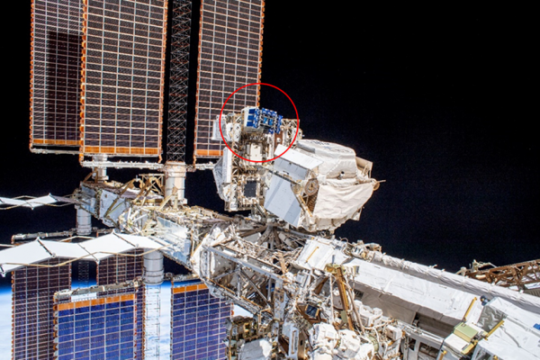 View of the MISSE-FF on ELC-2 Site 3 as photographed during an EVA on November 15, 2019.