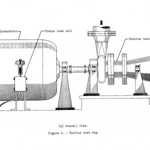 Diagram of D Site's turbine test rig.