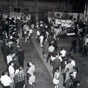 Group in hangar.