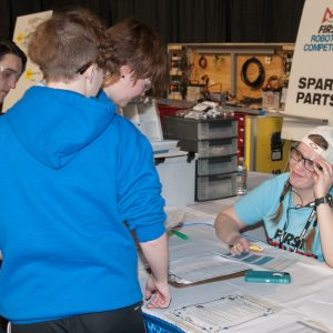 The volunteers at the Pit Administration table has the answers to most of your questions.
