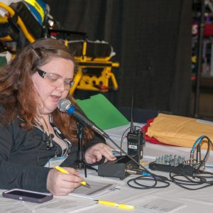 Our Pit announcer can make announcements in the pit area, help you request parts from other teams, and can call up the teams for queueing.