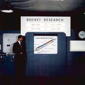 Rocket exhibit.