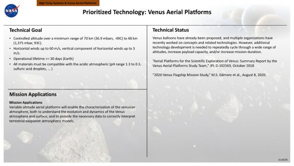 Venus Aerial Platforms