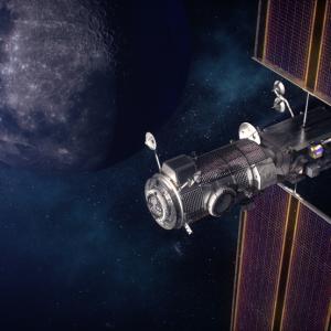 Artist rendering of Gateway Lunar orbiter