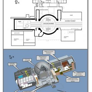 Space Power Facility Plan view and isometric drawing